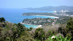Thailand, phuket beach landscape Stock Footage