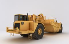 Earth mover vehicle Stock Illustration