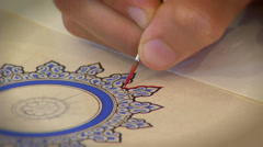 Islamic art - Calligraphy - stock footage