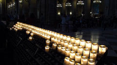 Prayer Candles Notre Dame Cathedral Stock Footage