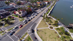 Stock Video Footage of St Augustine A1A aerial video flyover