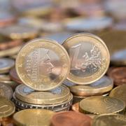 One euro coin luxemburg Stock Photos