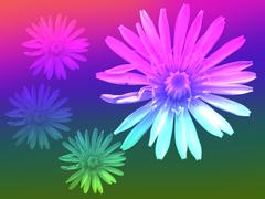 Tiivistelmä tausta sateenkaaren värein voikukka kukka Piirros