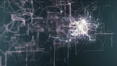 Abstract animated background of a technology concept. Stock Footage