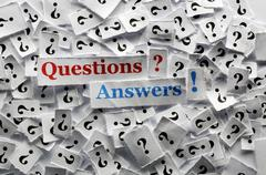 question  answers - stock photo