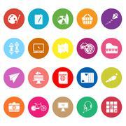 hobby flat icons on white background - stock illustration