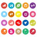 Stock Illustration of extreme sport flat icons on white background