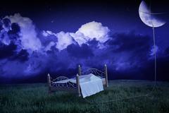 Moonlight dreams Stock Illustration