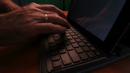 Stock Video Footage of Typing Home Office Close Up