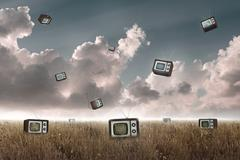 Television falling Stock Illustration