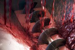 Wine production screw auger Stock Photos