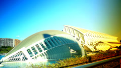 The City of Arts and Sciences,Valencia,pan view Stock Footage