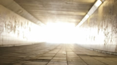 Light at the End of the Tunnel Low Angle Left Pan - 29,97FPS NTSC Stock Footage