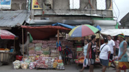 Stock Video Footage of HD Bustling Street Scene Tacloban Philippines After Typhoon Haiyan