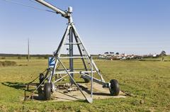Irrigation pivot axis Stock Photos