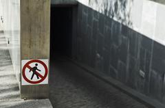Forbidden to pedestrians - stock photo