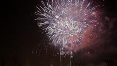 Firework Festival in Valencia Stock Footage