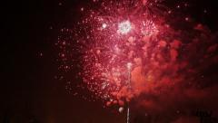 Time lapse Firework display - stock footage