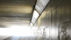 Empty Footpath Cycling Tunnel Background - 29,97FPS NTSC Stock Footage