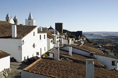 View over the roofs of Monsaraz, Alentejo, Portugal - stock photo