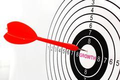 Growth target Stock Photos