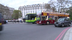 Marble Arch at Hyde Park Stock Footage