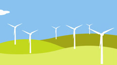 Wind power on the hills Stock Footage