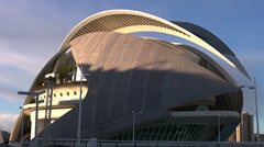 Zoom out, El Palau de les Arts Reina Sofia, Valencia  Stock Footage
