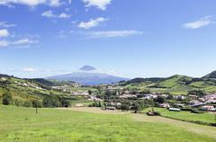 Landscape of Faial, Azores - stock photo