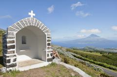 Shrine in Faial, Azores Stock Photos
