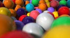 gumballs up close and personal - stock illustration