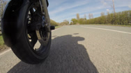 Stock Video Footage of Motorcycle Ride