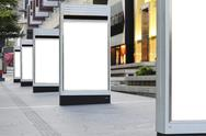 Blank signboards Stock Photos