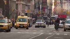 NYC 6th Avenue Traffic and Congestion. Stock Footage