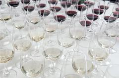 Winetasting glasses - stock photo