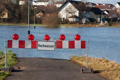 Flood in Germany - stock photo