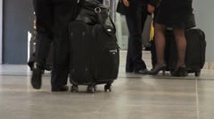 Passengers, Luggage, Suitcases, Baggage, Terminals Stock Footage