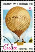 Stock Photo of cuba - circa 1983: a postage stamp printed in cuba commemorative of the 200 a