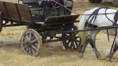 Horse Drawn Carriage, Wild West, Settlers Stock Footage