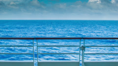Ocean Landscape from Ship at Sea Stock Footage