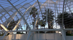 The City of Arts and Sciences,L'Umbracle , tilt move - stock footage