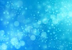 Lights On Blue Background Stock Illustration