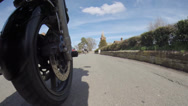 Stock Video Footage of Motorcycle Wheel