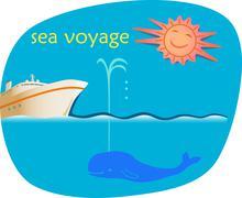 sea voyage - stock illustration