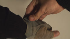 Man Removing Gym Gloves, Wrist, Protection, Sportsman Point Of View  Stock Footage