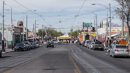 Stock Video Footage of 4K UHD time lapse 4th Ave street fair Tucson AZ up the tent row