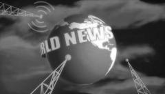 Stock Video Footage of Retro News Intro B&W