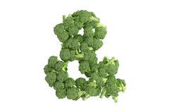 Stock Illustration of Broccoli symbol on white background