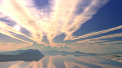 Sunset and clouds groove. - stock footage