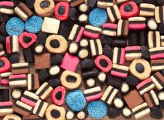 licorice candy - stock photo